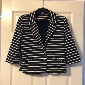 Navy and white jacket